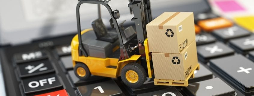 bigstock Forklift with cardboxes on cal 136044167